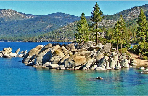 The blue, blue waters of Lake Tahoe