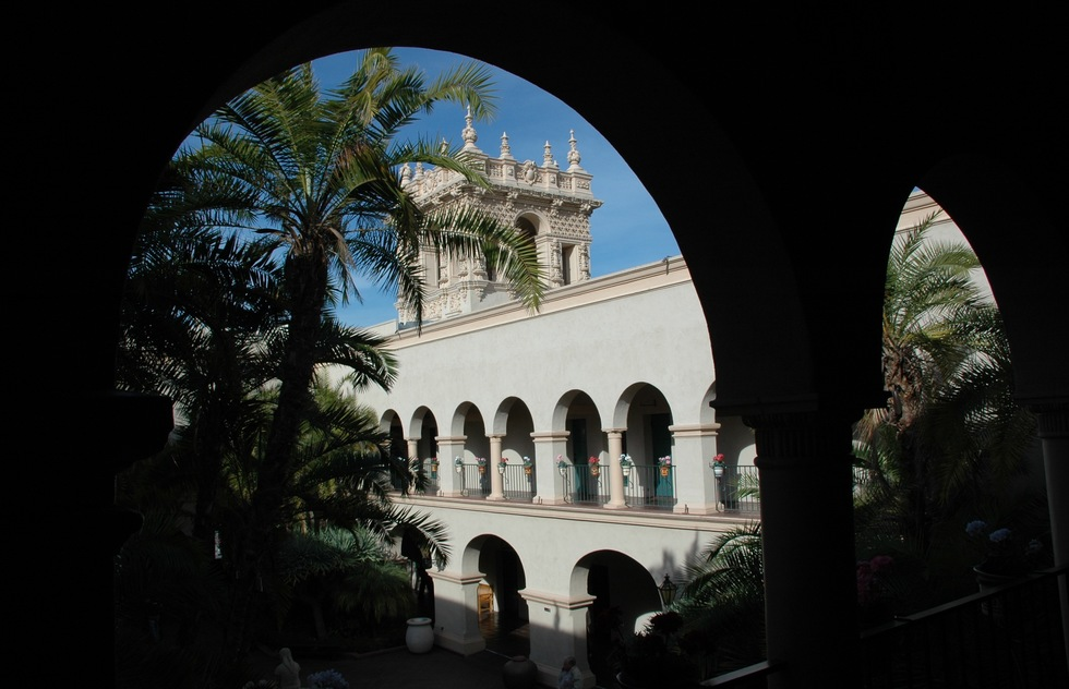 A historic building in Balboa Park in San Deigo, California.