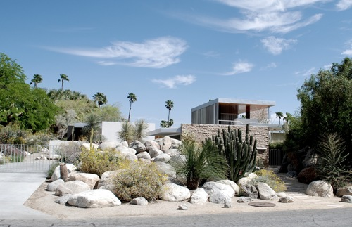 A midcentury modern home in Palm Springs, California.