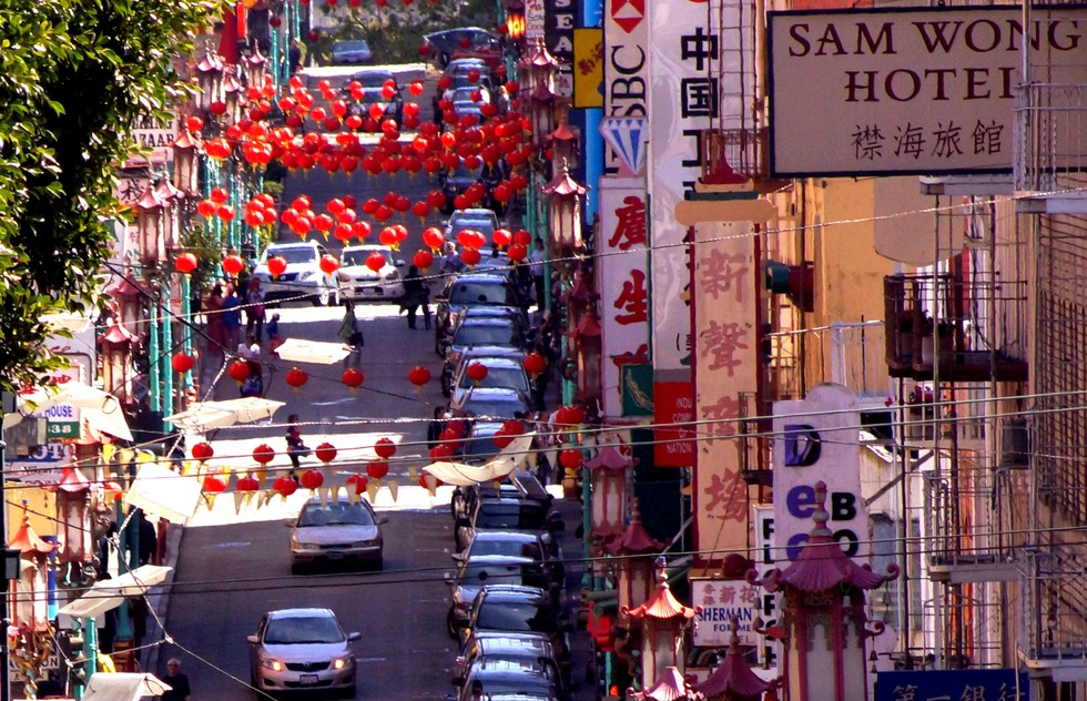 A street in San Francisco's Chinatown