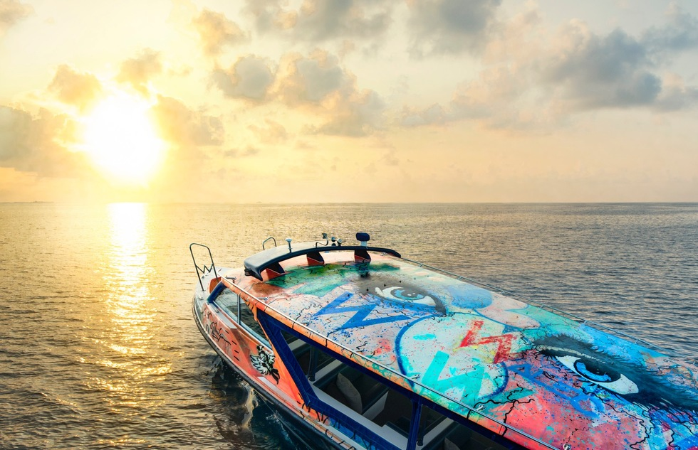 Speedboat 'Marilyn' by Alec Monopoly, W Retreat and Spa, Maldives