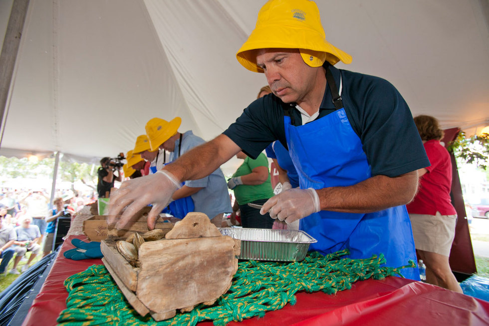 Shuckers at the Yarmouth Clam Festival in Yarmouth, ME