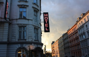 A hotel sign in Denmark