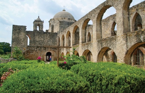 A view of the Mission San Jose in San Antonio, Texas.