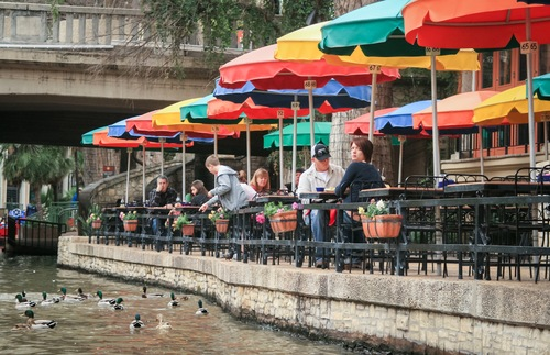 A riverside setting and colorful umbrellas make Casa Rio one of the most popular restaurants in San Antonio