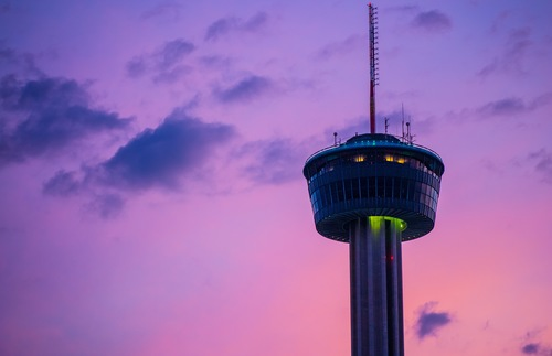 The top of the Tower of the Americas