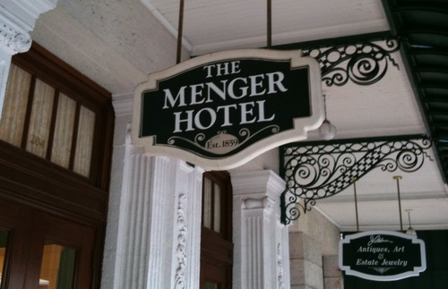 Sign for The Menger Hotel in San Antonio
