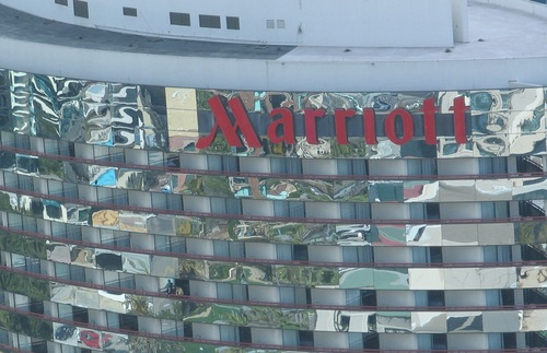 Exterior of a Marriott-branded hotel