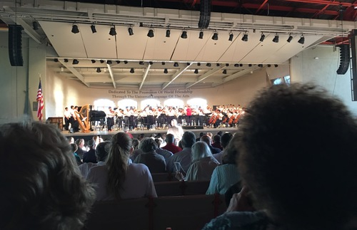 The World Youth Symphony Orchestra performing at Interlochen Center for the Arts