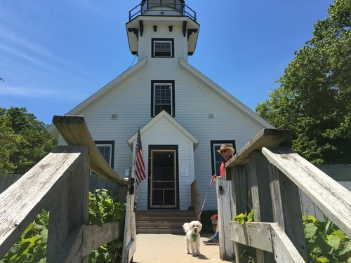 The 1870 Mission Point Lighthouse on Old Mission Peninsula in Michigan