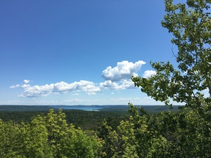 A lake view from Sleeping Bear Dunes National Seashore