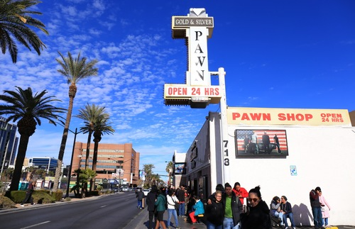 "The ""Pawn Stars"" shop in Las Vegas"