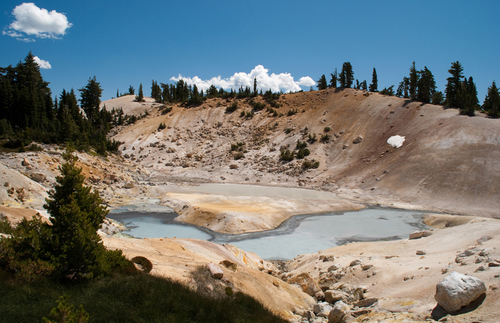 Hot springs at Lassen Volcanic National Park
