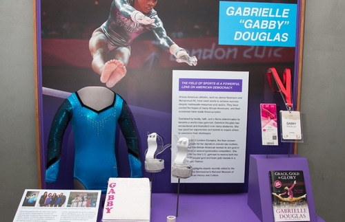 Gabby Douglas display, Smithsonian National Museum of African American History and Culture (NMAAHC)
