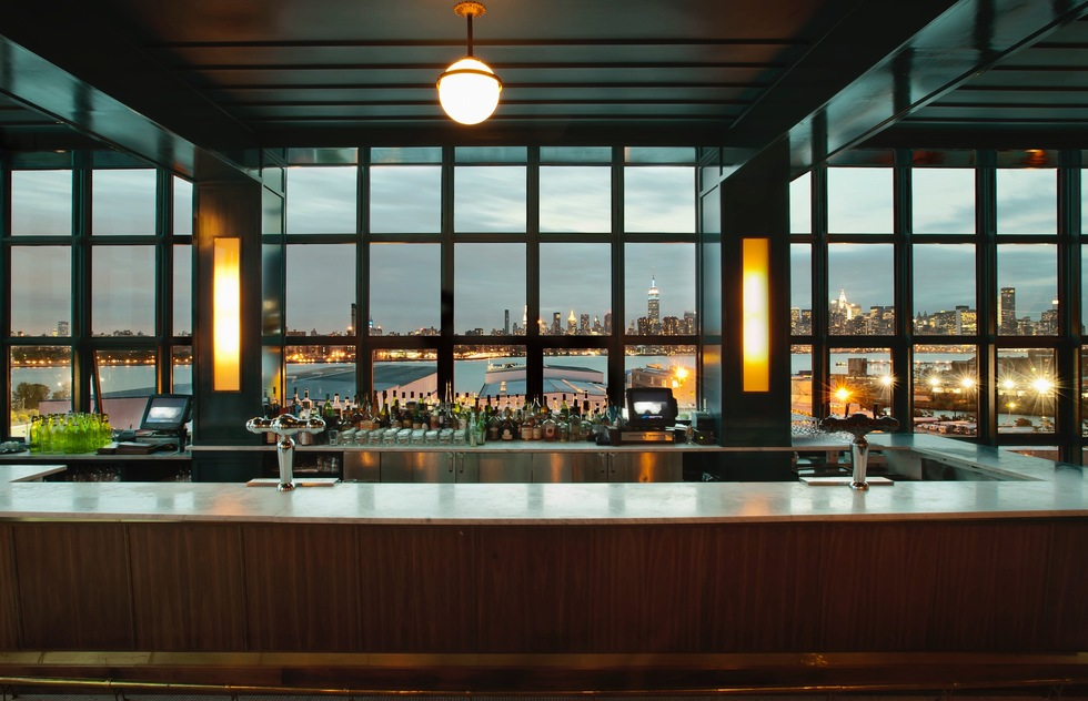 The Ides bar atop the Wythe Hotel in Brooklyn
