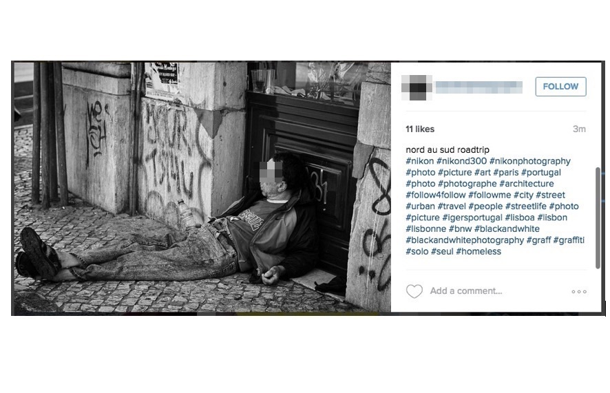 Instagram fail: Objectifying the Homeless