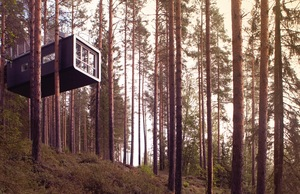 The Cabin treehouse at Treehotel in Sweden