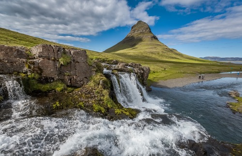 A roadside view in Iceland