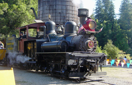 The Dixiana locomotive on the Roaring Camp Railroads