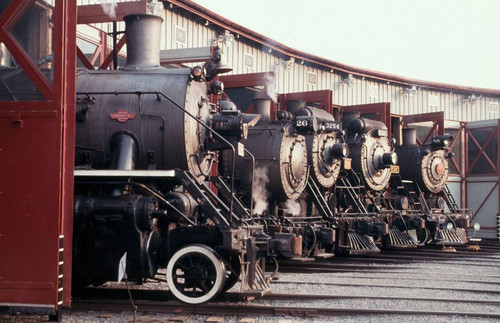 Engines in the roundhouse at Steamtown