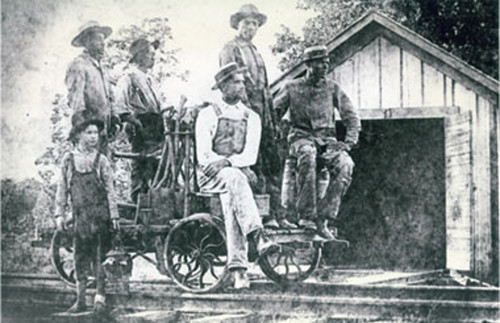 One of the original crews of the Texas State Railroad in the early 1900s