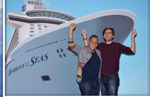 Souvenir photo from the inaugural sailing of Royal Caribbean's Harmony of the Seas