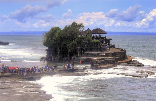 A temple on the Indonesian Island of Bali. Indonesia is a predominately Muslim nation.