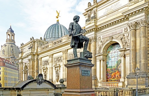 A statue in Dresden, Germany