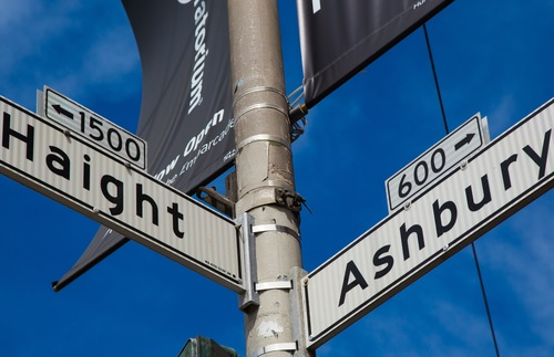 Haight-Ashbury street sign in San Francisco