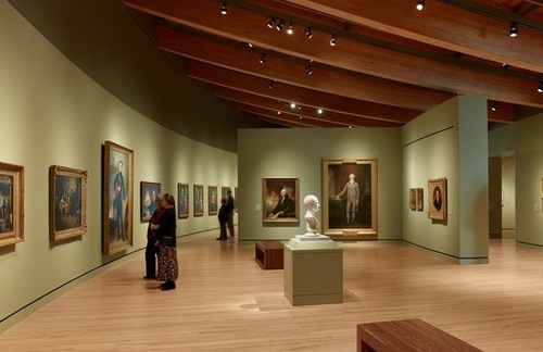 The Colonial to 19th Century gallery at Crystal Bridges Museum of American Art in Bentonville, Arkansas