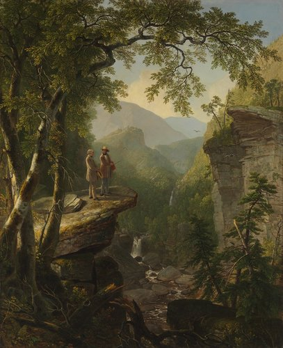 "Asher Brown Durand, ""Kindred Spirits"" (1849; oil on canvas, 44 x 36 in. [111.8 x 91.4 cm]). Photography by the Metropolitan Museum of Art. Courtesy of Crystal Bridges Museum of American Art, Bentonville, Arkansas"