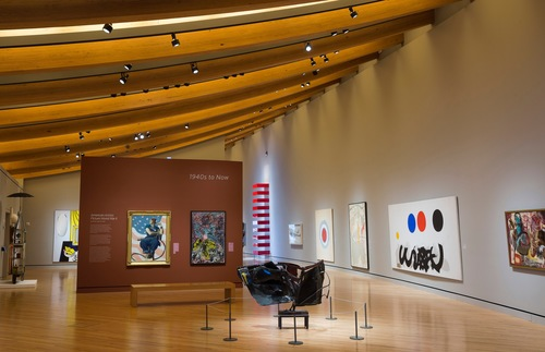 The 1940s to Now gallery at Crystal Bridges Museum of American Art, Bentonville, Arkansas