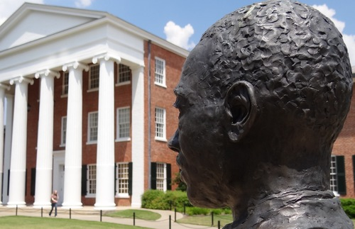 James Meredith statue at the University of Mississippi in Oxford