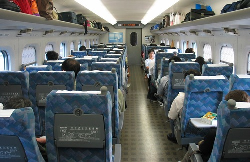 Individual bullet train tickets and carriage selection