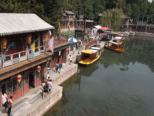 Boats at the Summer Palace in Beijing