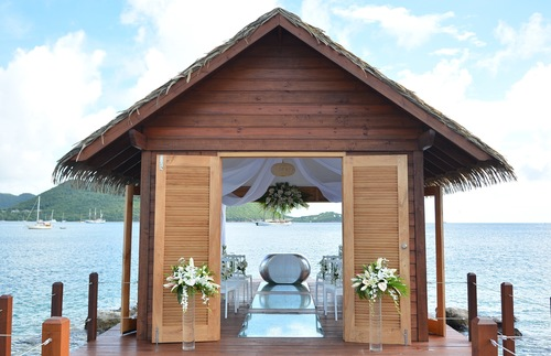Over-the-water chapel at Sandals Grande St. Lucian Spa & Beach Resort in St. Lucia