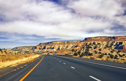 Interstate 40 East, near the Arizona-New Mexico border