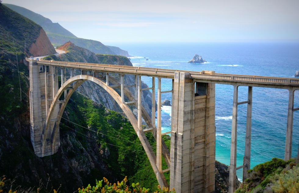 The Big Sur Bridge along California Route 1