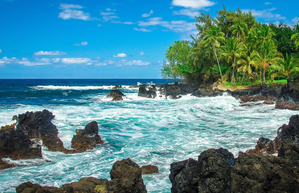 On the Keanae Peninsula, off Maui's Hana Highway in Hawaii