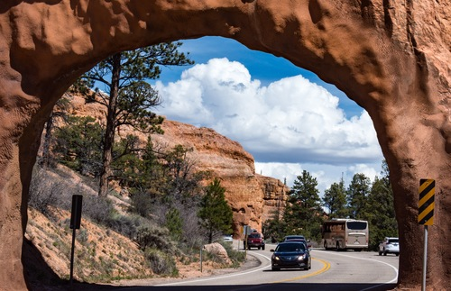 Route 12 through Red Canyon in Utah