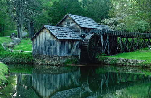 Mabry Mill along the Blue Ridge Parkway in Meadows of Dan, Virginia