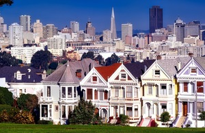 View from Alamo Square in San Francisco