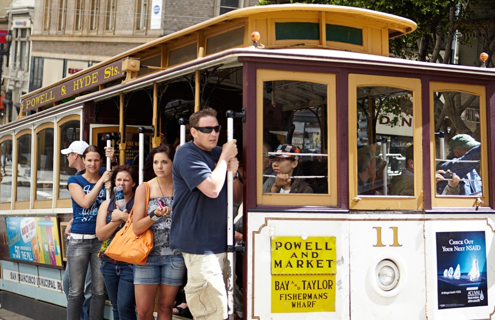 The Powell-Hyde cable car in San Francisco