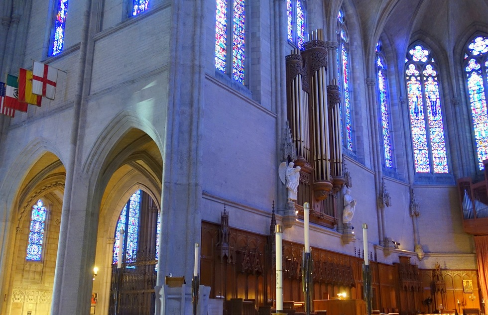 Interior of Grace Cathedral in San Francisco