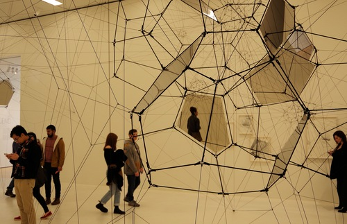 A Tomás Saraceno exhibit at the San Francisco Museum of Modern Art