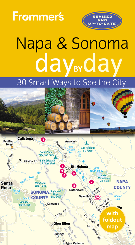 For a fuller picture of all that California wine country has to offer, pick up a copy of Frommer's Napa and Sonoma day by day. Inside you'll find scores of full-color maps and photos, self-guided tours to suit every interest and schedule, and our picks for the region's best wineries, hotels, restaurants, and shops—in short, everything you need to make the most of your time in Napa and Sonoma.