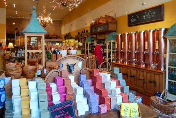 Sample, sample, sample at this French-inspired purveyor of epicurean delights (1375 Main St., St. Helena). Big, copper olive-oil dispensers line the walls, so try mixing your own—or shop for beautiful kitchenware from Provence.