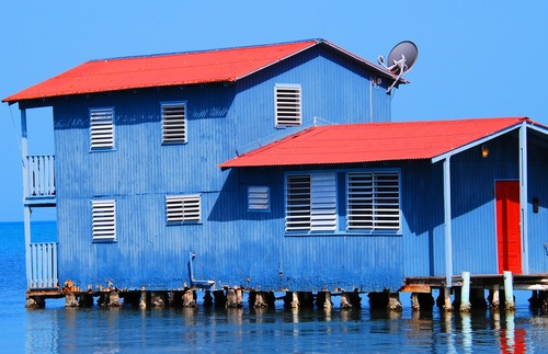 A house built on the water in Boquerón, Puerto Rico