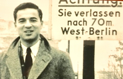 1950s photo of Arthur Frommer in Berlin