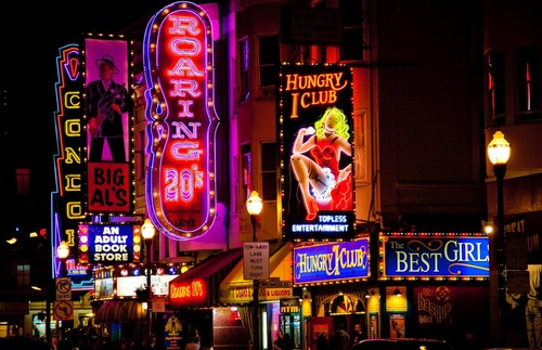 Strip clubs in San Francisco's North Beach neighborhood